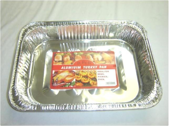ALUMINIUM TURKEY TRAY - 45.5x34x7.5cm
