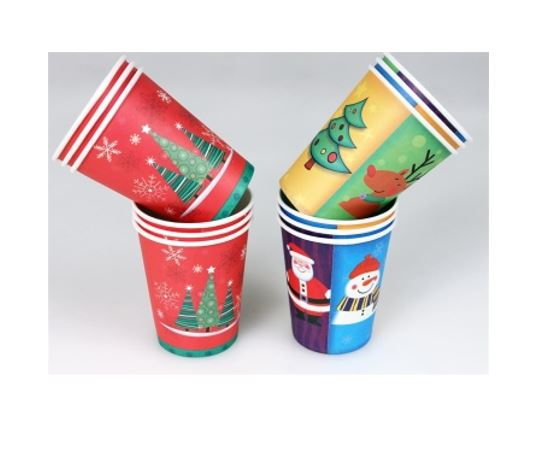 6pk Christmas Fun Paper Cups