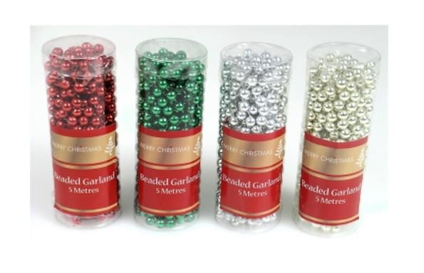 5m Bead Garland - Traditional Colours