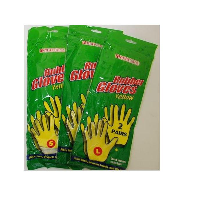 HOUSEHOLD RUBBER GLOVES 2PK