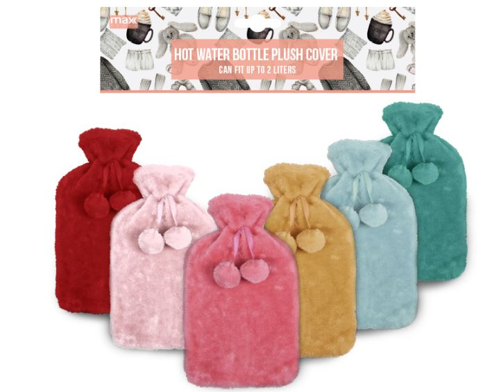 2L HOT WATER BOTTLE COVER PLUSH