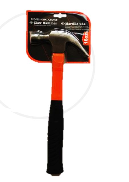 CLAW HAMMER FIBREGLASS 16oz