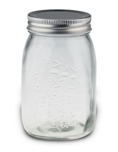 MAX Brand Mason Jar Embossed Screw Top 542ml