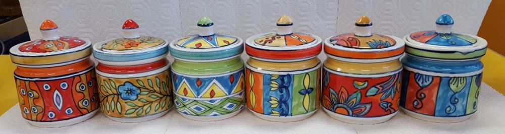 Hand-Painted Sugar Jars