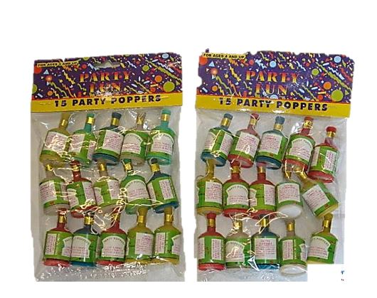 PARTY POPPERS 15PK