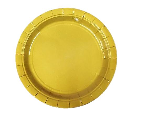 Plates Metallic gold Pk8