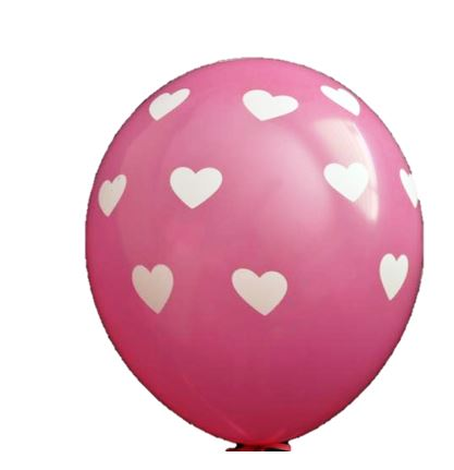 FULL PRINT BALLOONS HEART