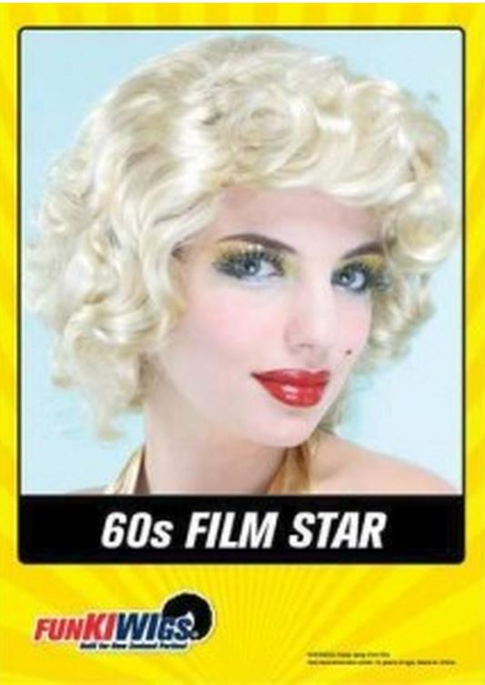 60S FILM STAR - BLONDE WIG