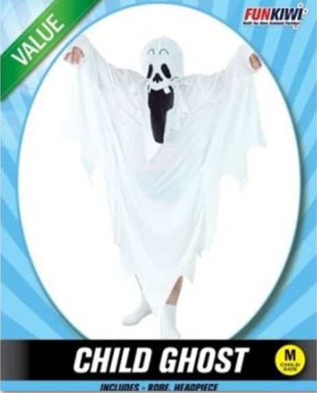 GHOST COSTUME - VALUE - CHILD
