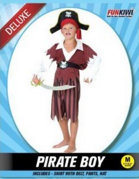 PIRATE BOY COSTUME - DELUXE - CHILD
