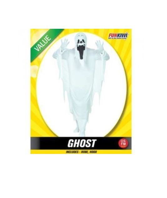 GHOST COSTUME - VALUE - ADULT