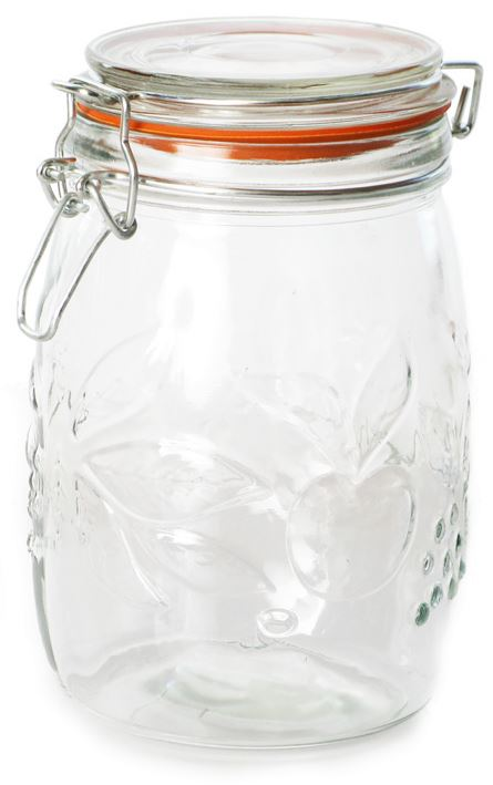 Clip Top Preserving Jar 1L