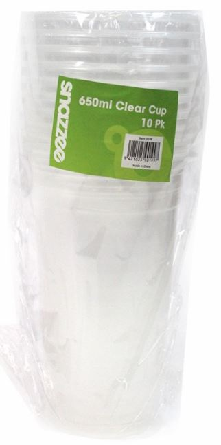Snazzee 10 PCE Clear 650 ML Cups