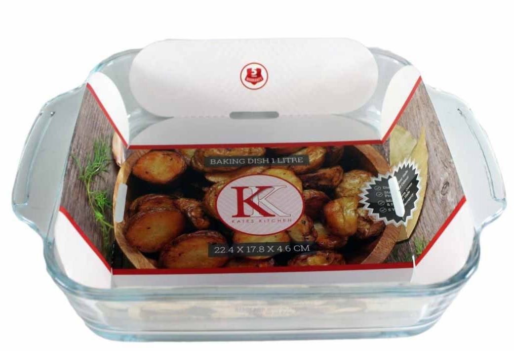 KK BAKING DISH SQUARE 1L