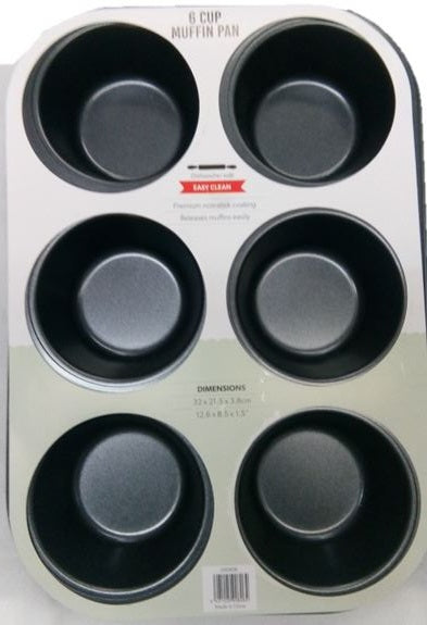 6 Cup Muffin Pan Easy Clean