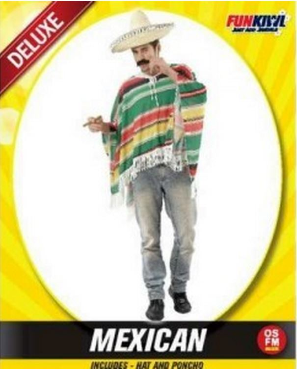 MEXICAN PONCHO AND HAT