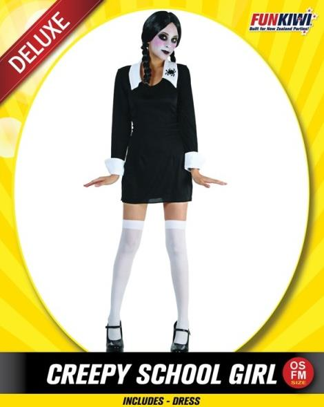 CREEPY SCHOOL GIRL COSTUME - DELUXE - ADULT