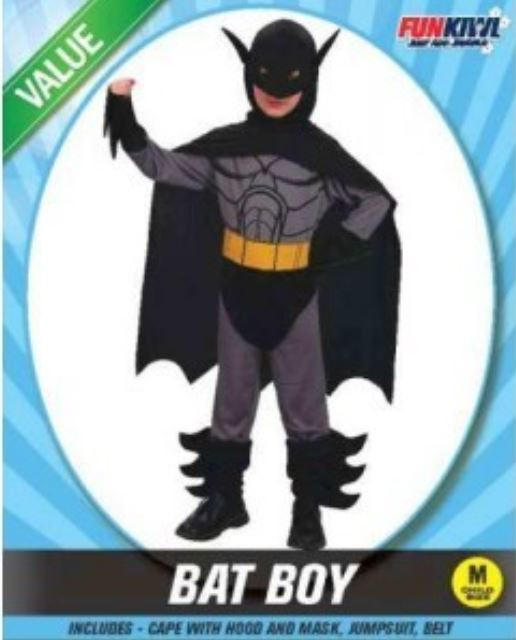 BAT BOY COSTUME - VALUE - CHILD