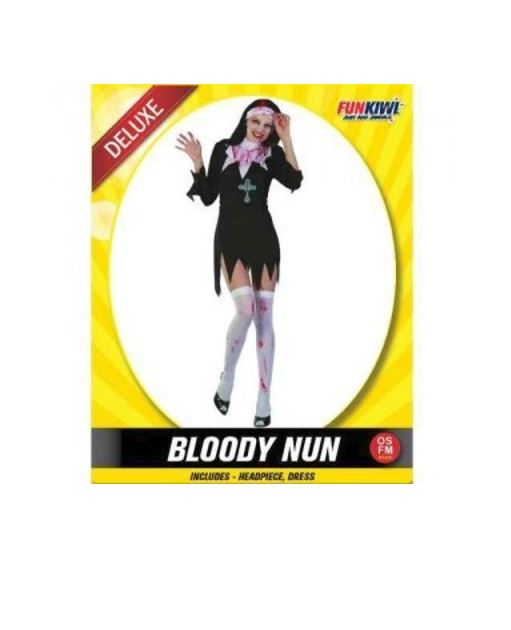 BLOODY NUN COSTUME - DELUXE - ADULT