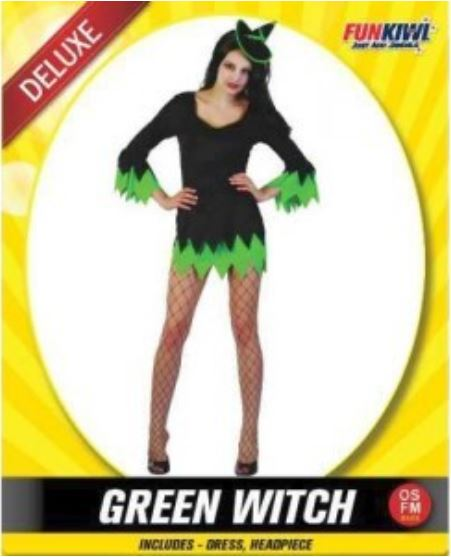 GREEN WITCH COSTUME - DELUXE - ADULT