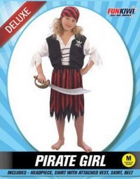 PIRATE GIRL - DELUXE - CHILD