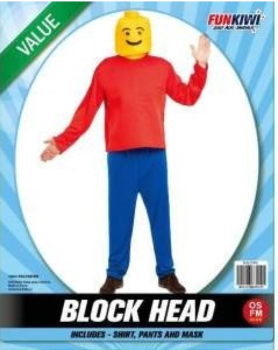 BLOCK HEAD COSTUME - VALUE - CHILD