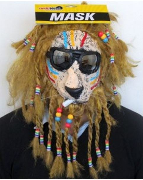 RASTA DOG MASK
