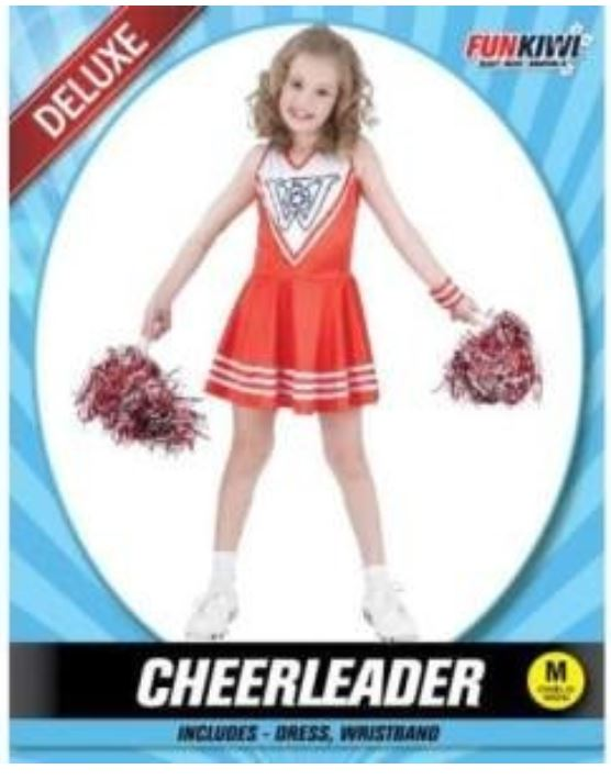 CHEERLEADER COSTUME - DELUXE - CHILD