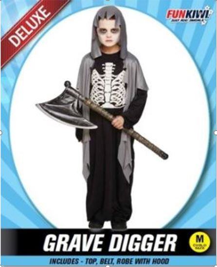 GRAVE DIGGER COSTUME - DELUXE - CHILD