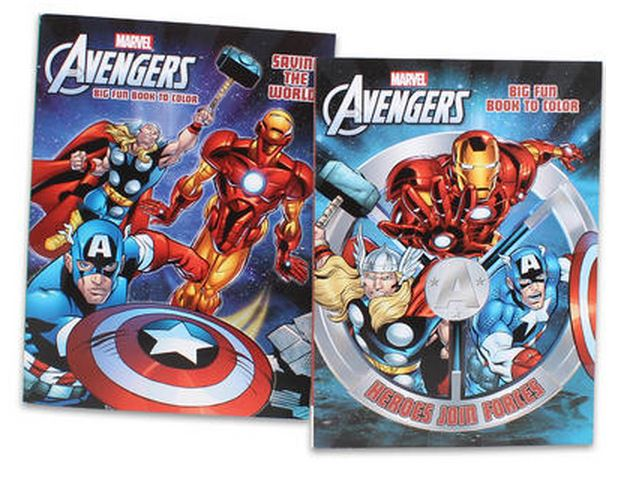 Marvel Coloring Book Avengers 96pg