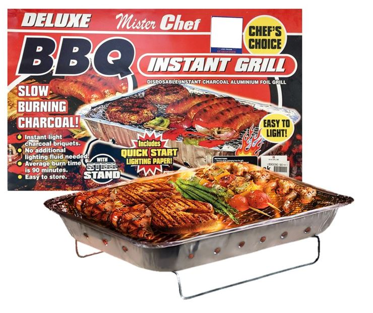 Mister Chef Deluxe Charcoal BBQ - Disposable
