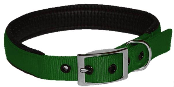 Collar Nylon Padded 25mm X 570mm Green