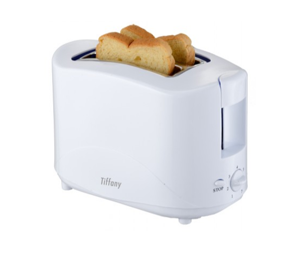 Tiffany White 2 Slice Toaster