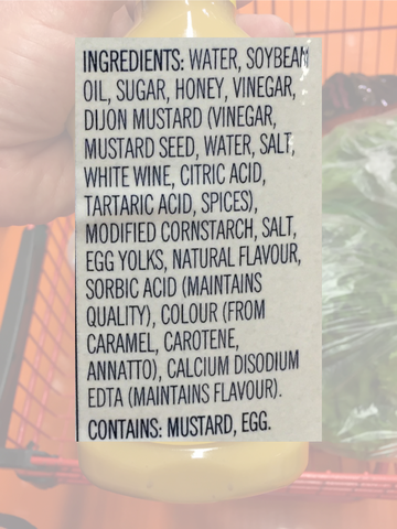 Ingredients in store bought salad dressing - make your own instead its real easy