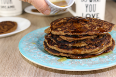 Healthy Banana Coconut Pancakes