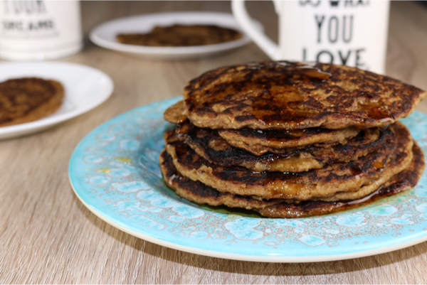 Healthy Banana Coconut Pancakes - loaded with healthy ingredients and they are dairy-free, refined sugar-free, eggless and gluten-free