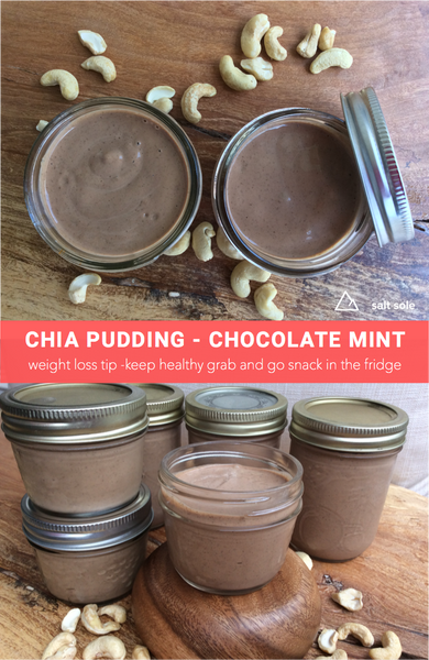 Chia Pudding - Chocolate Mint -This is a creamy dairy free chocolate mint pudding recipe thats healthy