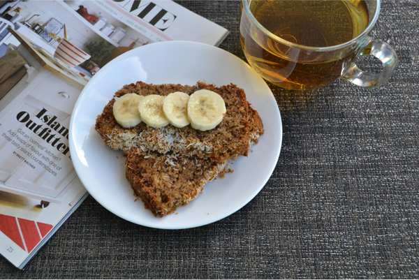 Coconut Banana Bread - This is the BEST and healthiest banana bread ever!  This recipe is a perfect example of how easy it is to switch to healthier ingredients