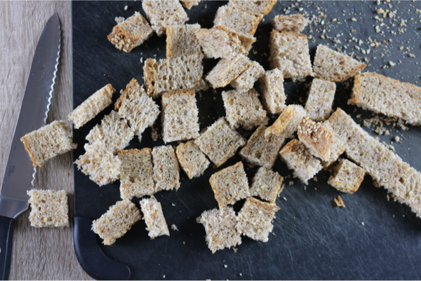 Healthy Homemade Crunchy Croutons