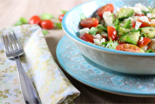Good For Your Gut Health Veggie Salad | saltsole.com