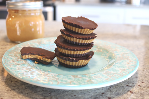 Guilt-Free Dark Chocolate Peanut Butter Cups -These are good, really, really good.