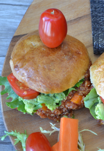 "Sloppy Quinoa joe Sliders -Sloppy Quinoa joe Sliders -This recipe is a healthy play on those ""sloppy joes"" that we ate when we were kids.  Just throw everything in the slow cooker and forget about it.  Healthy and quick...want some - yes please!"