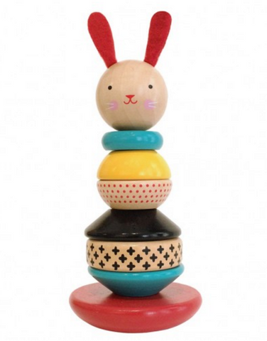 Wood Stacking Rabbit Toy