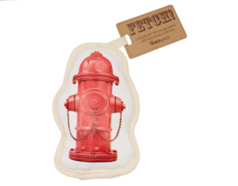 Fire Hydrant Canvas Dog Toy