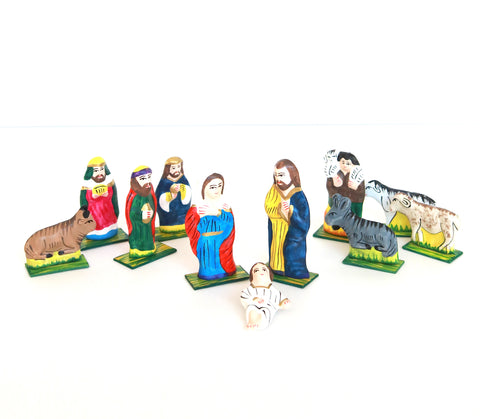 Nativity Scene | Hand Painted Figurines | Set of 11