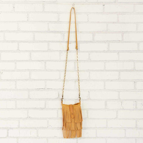 Crossbody | Mini Fringe Distressed Leather