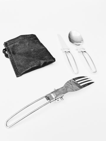 Portable Stainless Steel Folding Cutlery Set