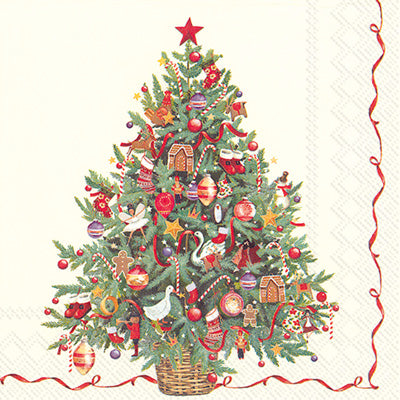 Cocktail Napkins | Traditional Christmas Tree
