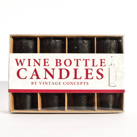 Wine Bottle Candles | Black