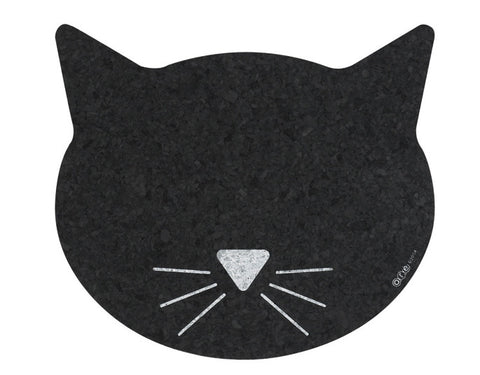 Cat Face Cork Pet Mat